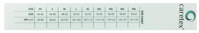 CareTex Men Size Chart