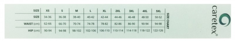 CareTex Women Size Chart