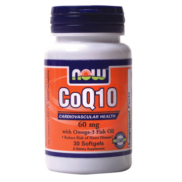 Now CoQ10 60 mg with Omega-3 30 softgels